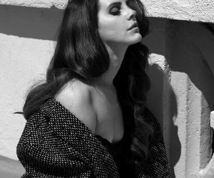 beautiful, black and white, and lana del rey image