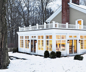 house, winter, and home image