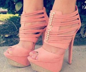 heels, fashion, and pink image