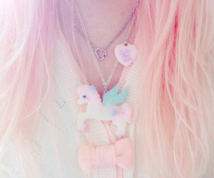 bow, jewelry, and pastel image