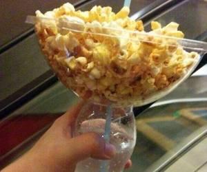 popcorn, food, and movie image