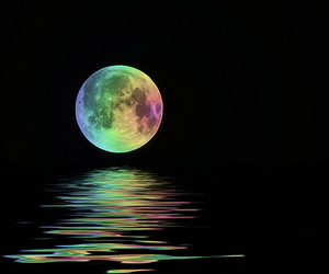 moon, colors, and night image