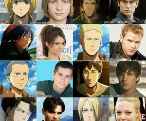 attack on titan, real, and they're+real image