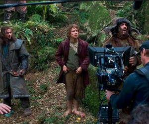 behind the scenes, dwarves, and Martin Freeman image