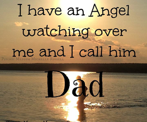 dad, angel, and heaven image