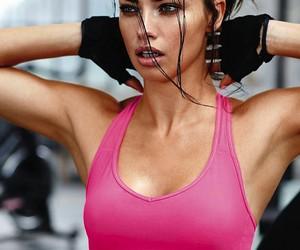 Adriana Lima, fitness, and Victoria's Secret image