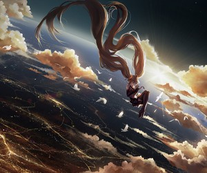 vocaloid, anime, and sky image