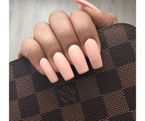 nails, beauty, and Louis Vuitton image