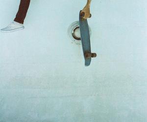 boy, skate, and pool image
