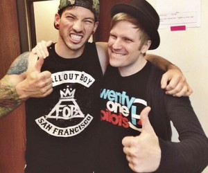 fall out boy, twenty one pilots, and patrick stump image