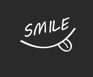 smile, wallpaper, and black image