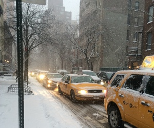 nyc, snow, and winter image