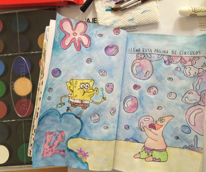circles, watercolor, and wreck this journal image