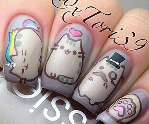 nails, cat, and pusheen image
