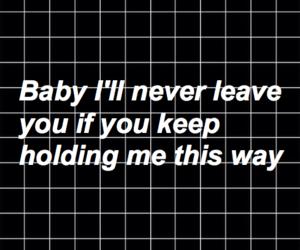 black & white, grid, and Lyrics image