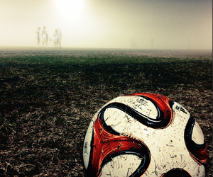 fog, soccer, and team image