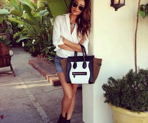 fashion, shay mitchell, and bag image