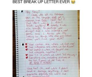 funny, break up, and Letter image