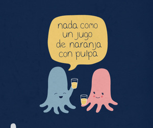juice, funny, and octopus image