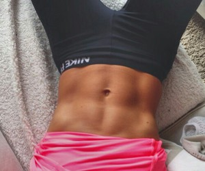 abs, flat stomach, and fitness image