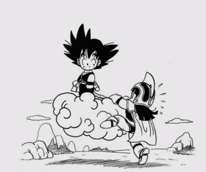 goku, chichi, and dragon ball image