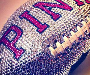pink, football, and Victoria's Secret image