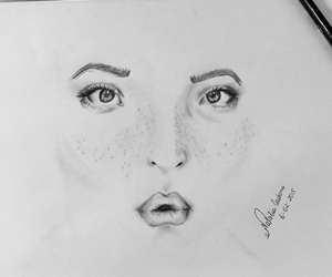 drawing, freckles, and little things image