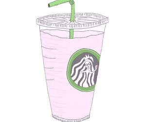 overlay, starbucks, and pink image