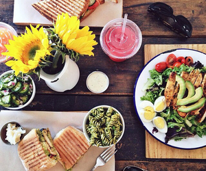 food, healthy, and flowers image