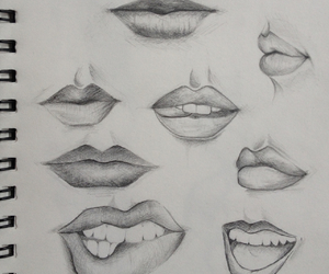 art, lips, and mouth image