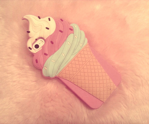 apple, pink, and iphone case image