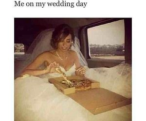 pizza, wedding, and funny image