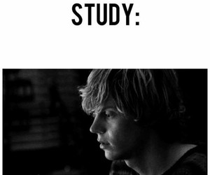 evan peters, ahs, and study image