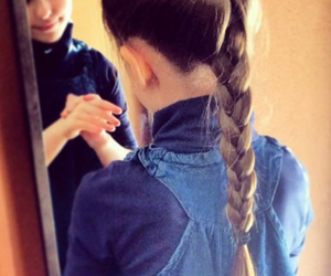girl, braids, and hair image