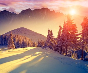 mountain, snow, and winter image
