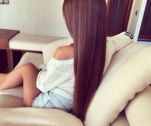 beautiful, hair style, and brown image