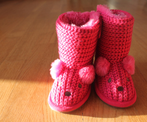cute, pink, and slippers image