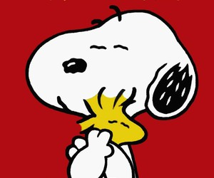 peanuts, snoopy, and Valentine's Day image