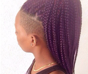 braids and purple image