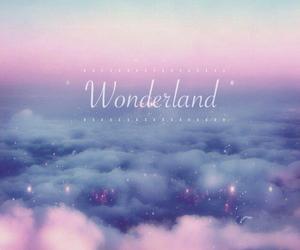 wonderland, pink, and sky image