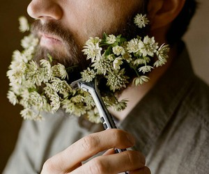 flowers and beard image
