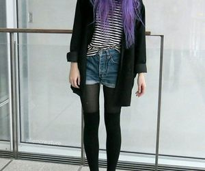 grunge, black, and outfit image