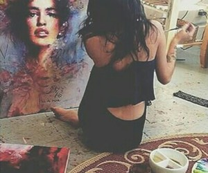 girl and painting image