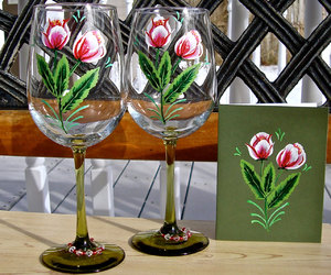 valentinesdaygifts, mothersdaygifts, and handpaintedwineglasses image