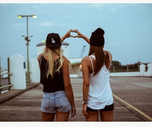 best friends, blonde, and friendship image