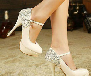 beautiful, beige, and shoes image