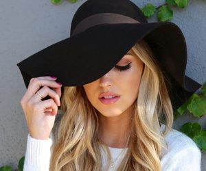 black, hat, and capeline image