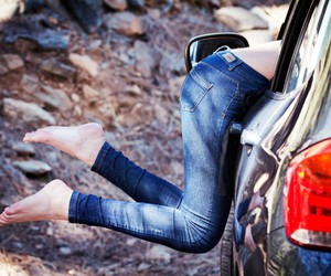 cars, feet, and women image
