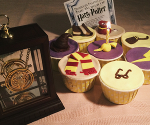 birthday, cupcakes, and gift image