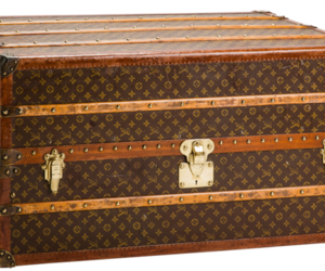 Louis Vuitton, wardrobe, and wood trunk image
